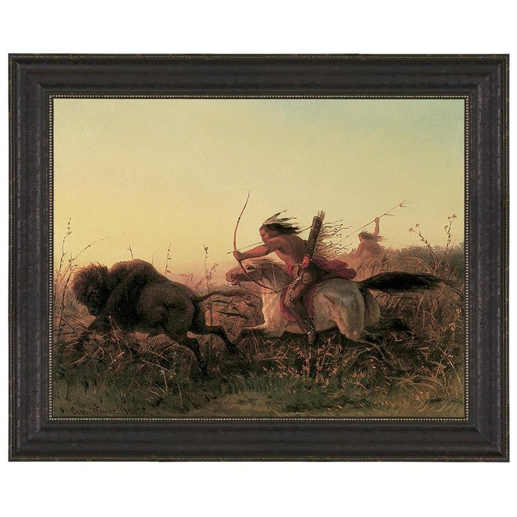 View larger image of Indian Buffalo Hunt, 1856: Canvas Replica Painting