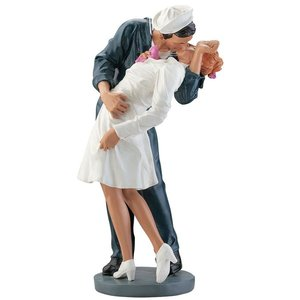 Inspired by the Moment WWII Lovers Statue: Large