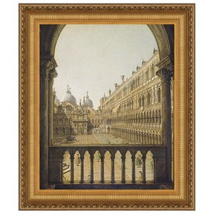 Interior Court of the Doge's Palace, Venice, 1756: Canvas Replica Painting: Grande