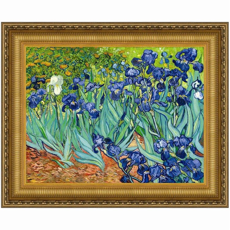View larger image of Irises, 1889: Canvas Replica Painting
