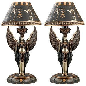 Isis Sculptural Table Lamp: Set of Two