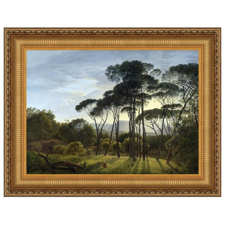 View larger image of Italian Landscape with Umbrella Pines, 1807: Canvas Replica Painting