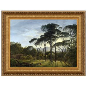 Italian Landscape with Umbrella Pines, 187: Canvas Replica Painting: Large