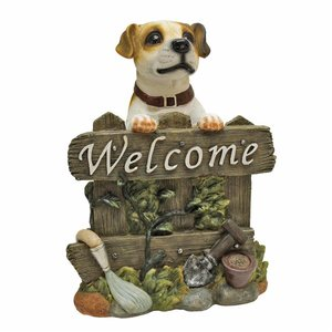 Jack Russell Terrier Dog Welcome Statue