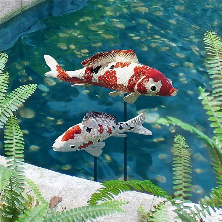 View larger image of Japanese Floating Koi Sculpture Collection