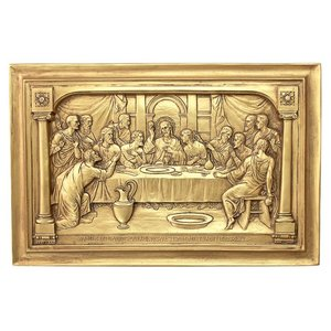 Jesus and the Apostles  Last Supper Wall Sculpture