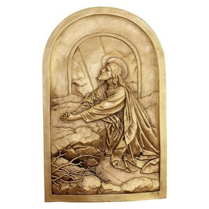 Jesus Praying on the Mount of Olives Wall Sculpture