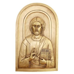 Jesus the Christ Orthodox Iconography Wall Sculpture