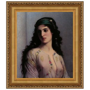 Jewish Girl in Tangiers: Canvas Replica Painting: Grande