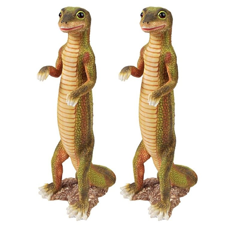 View larger image of Jo Jo, the Gecko Statue: Set of Two