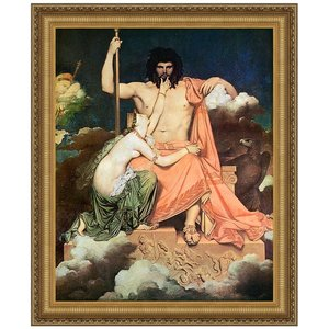 Jupiter and Thetis, 1811: Canvas Replica Painting: Large