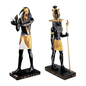 Khnum, Creator of Mankind and Thoth, God of Scribes: Set
