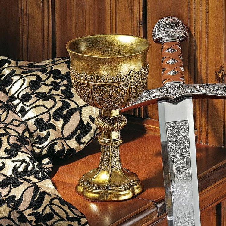 View larger image of King Arthur's Golden Chalice Gothic Sculptures