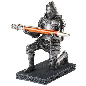 King Arthur's Medieval Knight of the Royal Scribe Pen Holder Statue