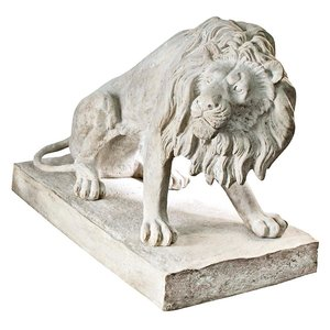 Kingsbury Garden Giant Lion Sentinel Statues: Looking Right