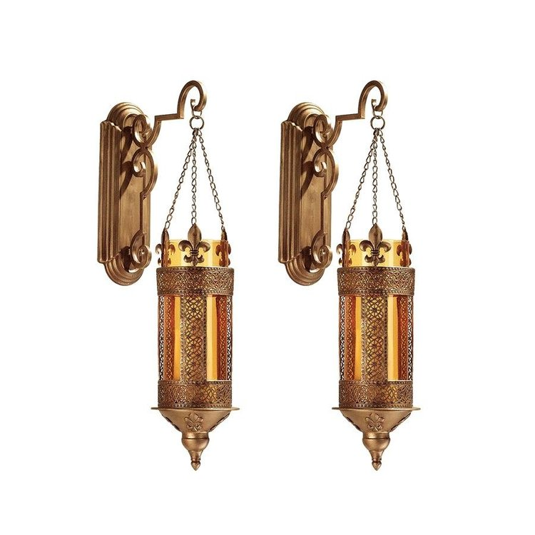 View larger image of Kinnaird Castle Hanging Pendant Wall Sconce: Set of Two