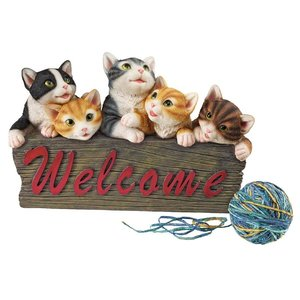 Kitten Kaboodle Cat Welcome Sign