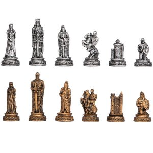 The Knights  Mortal Conflict Gothic Chess Piece Set