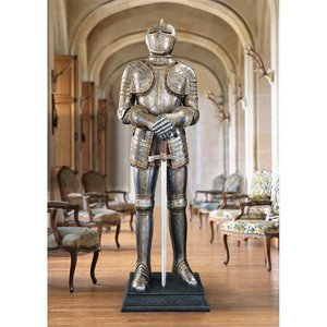 Knight's Guard Medieval Armor Sculpture with Sword