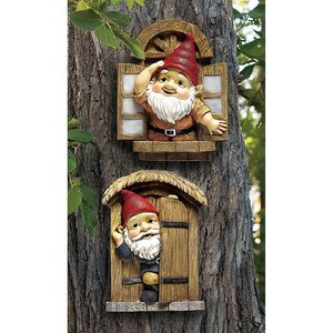 The Knothole Gnomes Garden Welcome Tree Sculptures