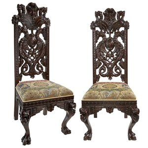 Knottingley Manor Medieval Dining Chair: Set of Two