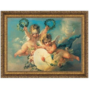 La Cible d'Amour, 1758: Canvas Replica Painting: Small