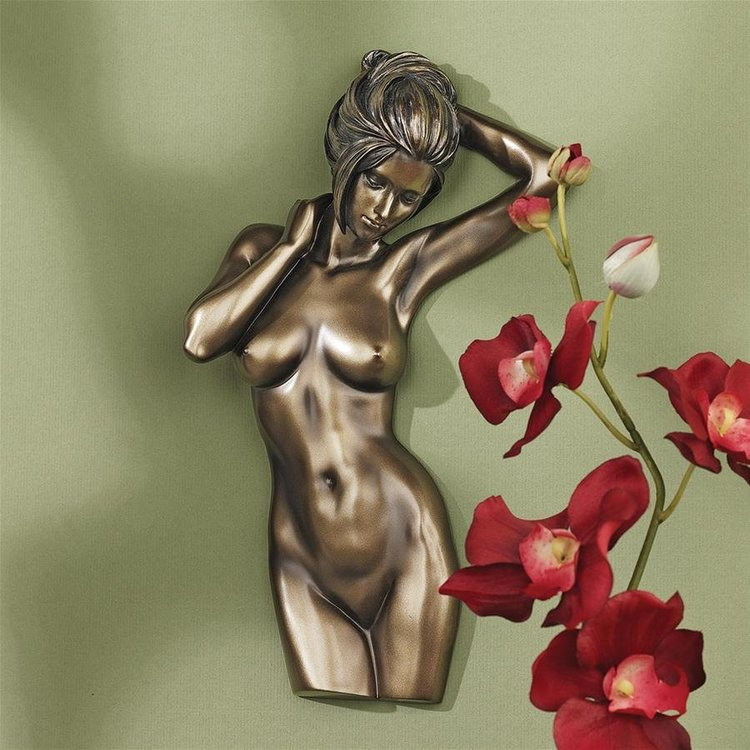 View larger image of La Donna: Nude Female Torso Wall Sculpture