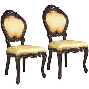 Lady Ambrose Shield Back Accent Chair: Set of Two