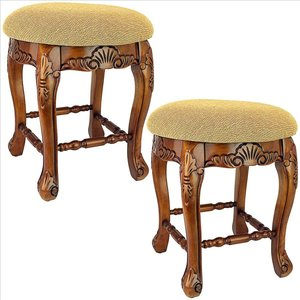 Lady Annette Vanity Stool: Set of Two