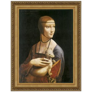 Lady with an Ermine, 1490: Canvas Replica Painting: Small