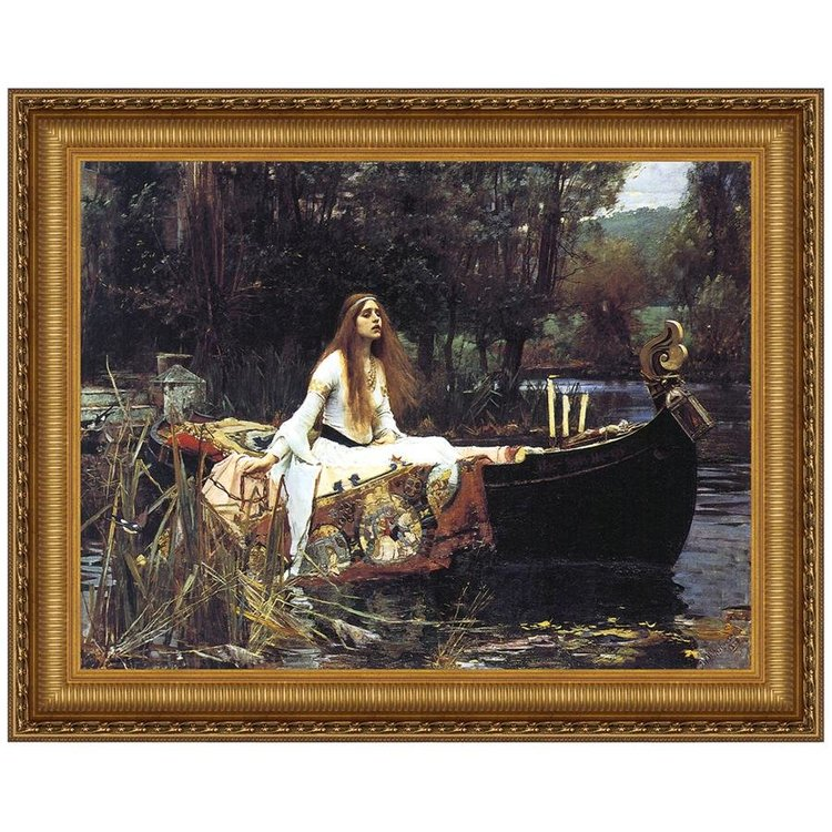 View larger image of Lady of Shalott, 1888: Canvas Replica Painting