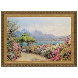 Lake Como from the Villa, Canvas Replica Painting: Large
