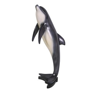 Large Leaping Sea Dolphin Statue