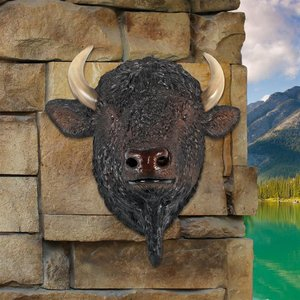 Large Scale Buffalo of the Great Plains Trophy Wall Statue