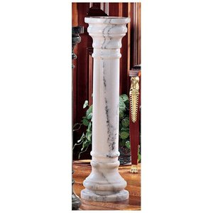 White Solid Marble Column: Large