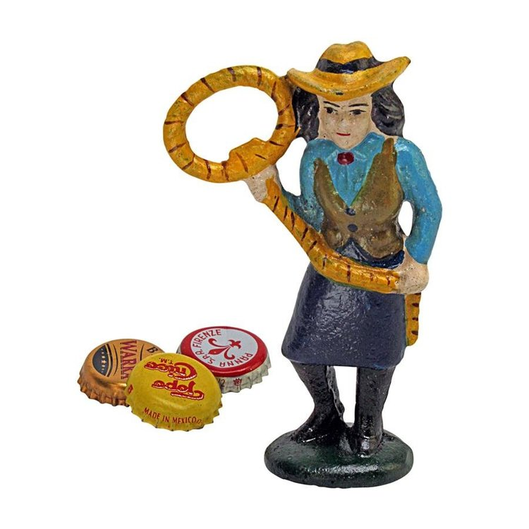 View larger image of Lasso Lil the Cowgirl Cast Iron Bottle Opener