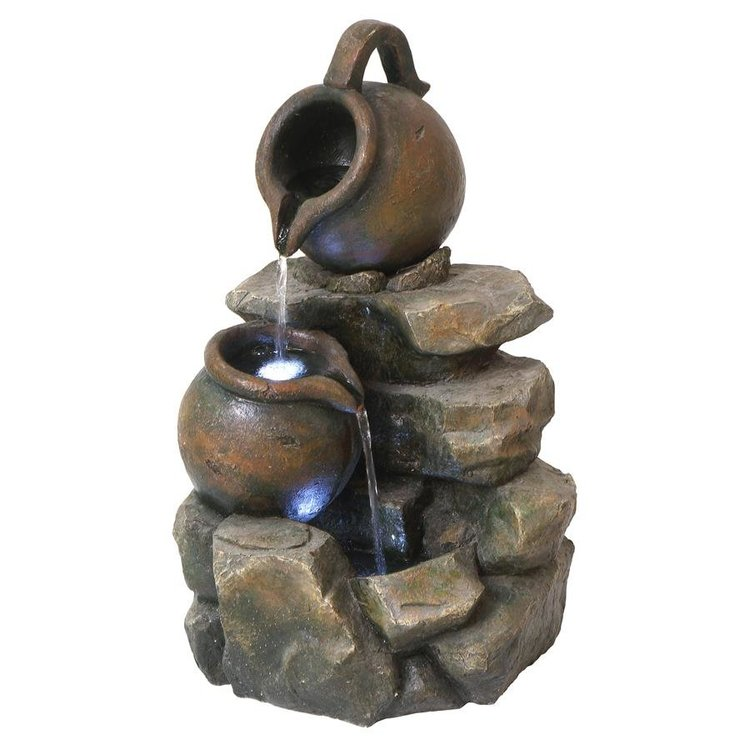 View larger image of LaTaverna Cascading Urn Garden Fountain