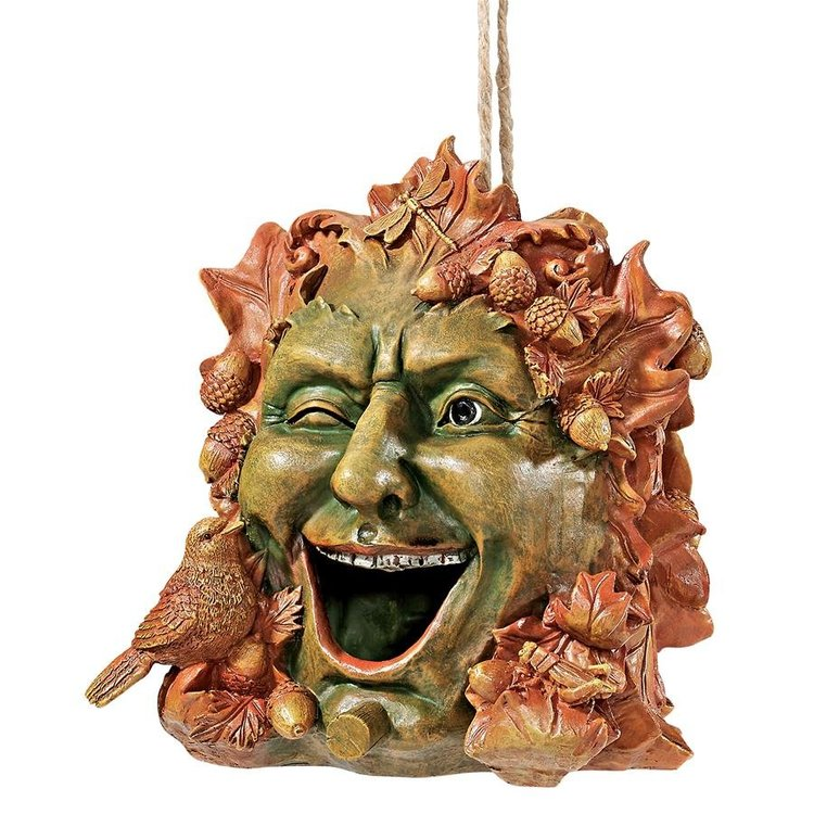 View larger image of Laughing Greenman Birdhouse Statue
