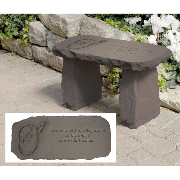 View larger image of Leave a Path Cast Stone Memorial Garden Bench