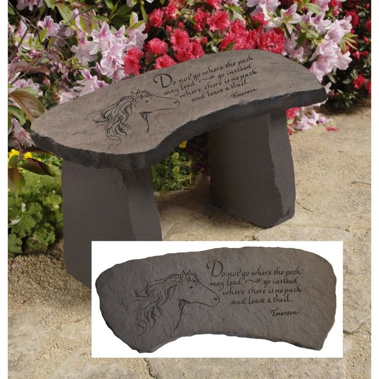 View larger image of Leave a Trail Cast Stone Memorial Garden Bench
