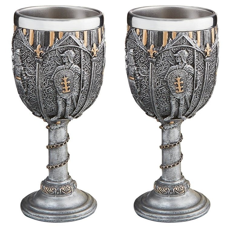 View larger image of Legion of the King's Knights Royal Gothic Goblet: Set of Two