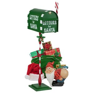 Letters for Santa Metal Holiday Mailbox