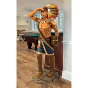 Life-Size Cigar Store Indian Tobacconist Statue