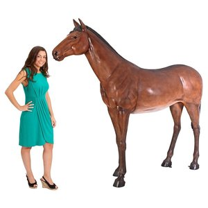 Life-Size Quarter Horse Filly Statue