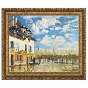 L'inondation a Port-Marly, 1876: Canvas Replica Painting: Large