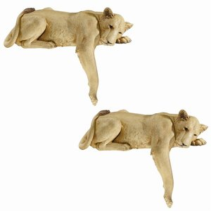 Lioness of Namibia Statues: Set of Two