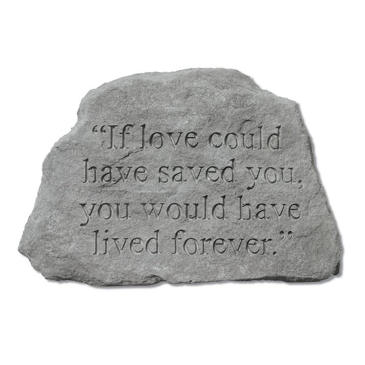 View larger image of Live Forever Cast Stone Pet Memorial Statue