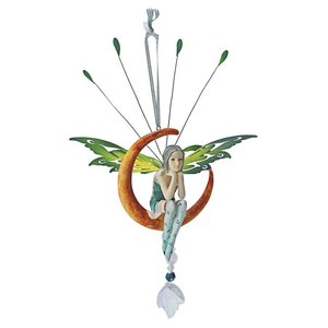 Lochloy House Crescent Fairy Dangling Sculpture: Set of Two