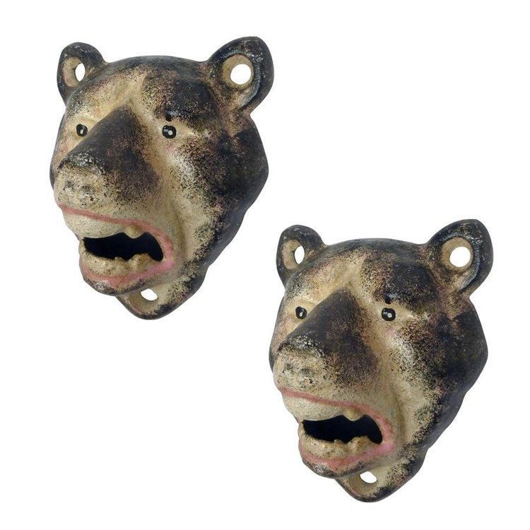 View larger image of Lone Wolf Cast Iron Bottle Opener: Set of Two
