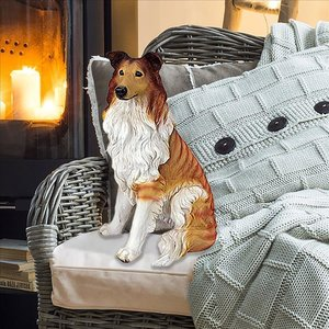 Long-Haired Collie Dog Statue